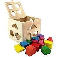 Goodgoods 立体パズル つみきパズル パズルボックス キッズ 木製 13ピース 幾何認知 おもちゃ 知育玩具 013-lzgy-d-020(14*12*14cm 画像より)