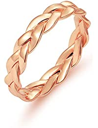 LALANG Creative Closed Chain Ring Simple Retro Winding Finger Ring