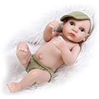 NPKDOLL アクリルアイズとリボーンベビードールハードシミュレーションシリコーンビニール10インチの26センチメートル防水バス児童玩具プレゼントグリーンサンシャインボーイ Reborn Baby Doll A1JP