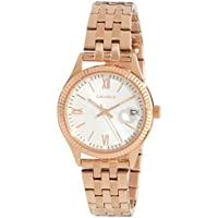 CARAVELLE Women's 44M115 Analog Quartz Rose Gold Watch