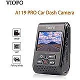 A119 PRO Dash Cam Car Dash Camera 2K HD 1440P 1296P 30fps 1080P 60/30fps 5PM Capacitor Camera DVR 7G F1.8 130°FOV Video Recorder