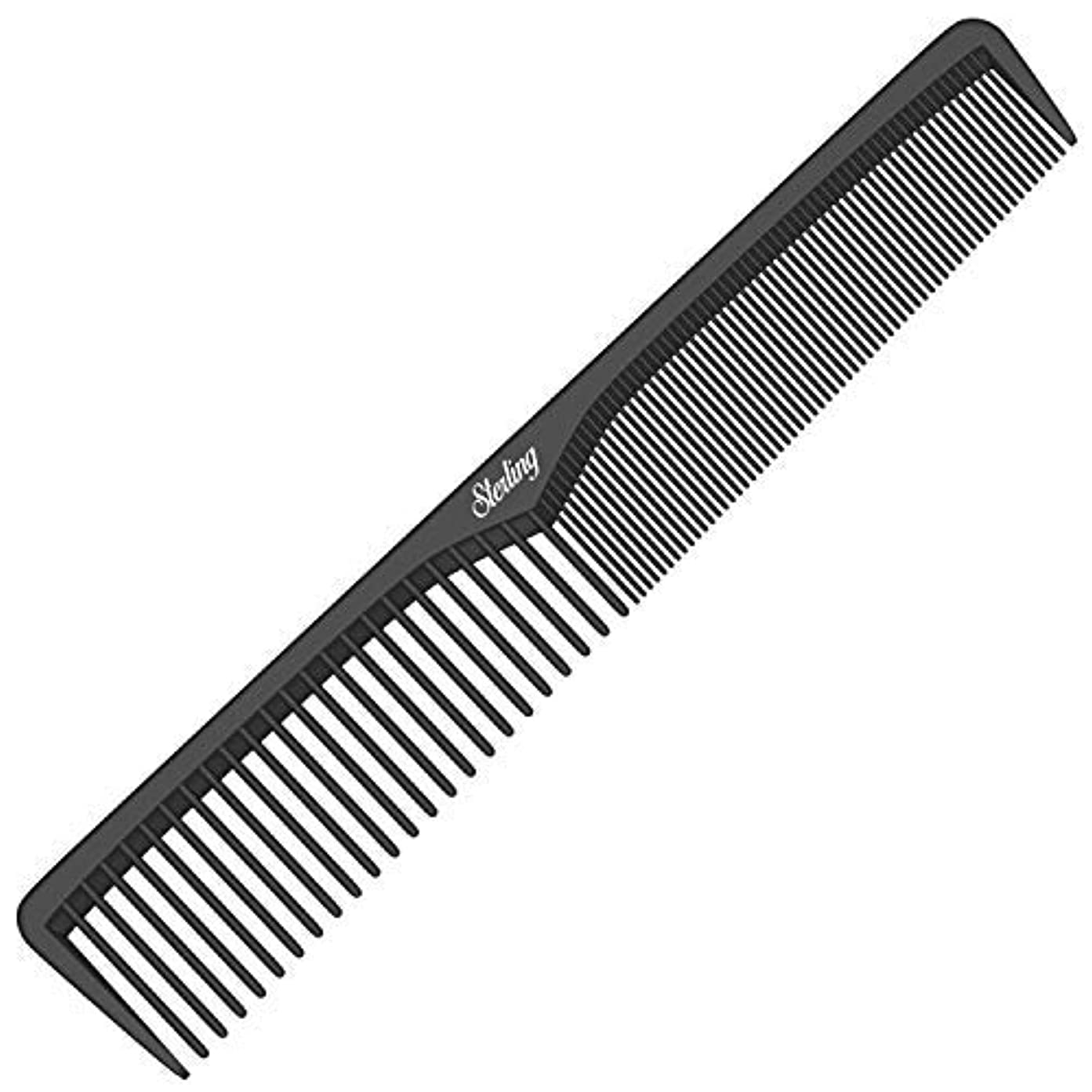 差し迫ったみなさん共役Styling Comb | Professional 7  Black Carbon Fiber Anti Static Chemical And Heat Resistant Comb For All Hair Types...