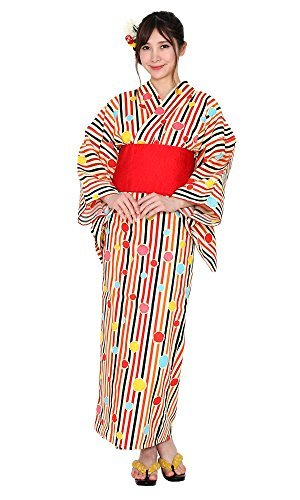 有村架純(2016年モデル) 浴衣 女性 レディース 単品 プレタ 和装 着物 モダン レトロ 6A-9