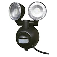 ワイドに明るく照らすセンサーライト!! 屋外用LEDセンサーライト M8W-SLED 〈簡易梱包