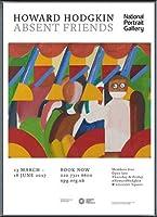 ポスター ハワード ホジキン Absent Friends The Tilsons Exhibition 額装品 アルミ製ベーシックフレーム(ブラック)