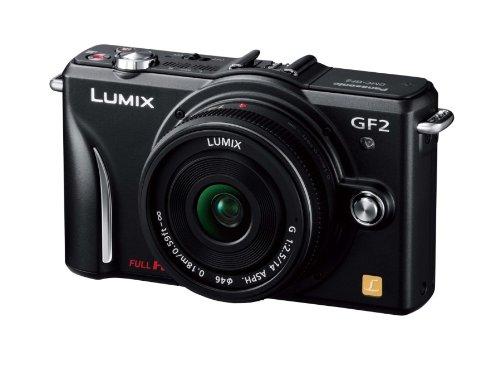 Panasonic デジタル一眼カメラ GF2 レンズキット(14mm/F2.5パンケーキレンズ付属) フルハイビジョンムービー一眼 エスプリブラック DMC-GF2 C-K