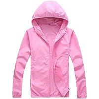 Macondoo Womens Breathable Hoodie Outdoor Coat Unisex Sun Protective Jacket