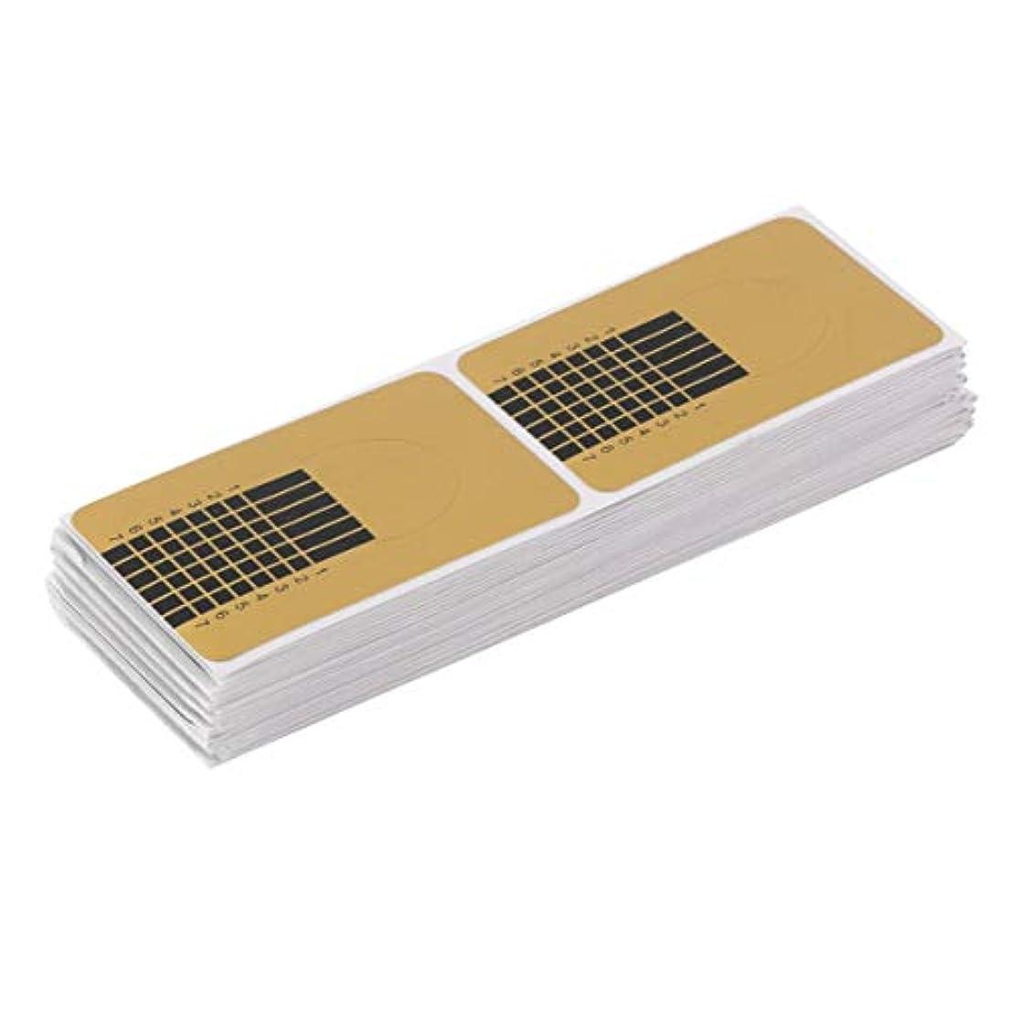 組み合わせ縮れた改修Birdlantern 100ピース/セットプロフェッショナルネイルツールのヒントネイルアートガイドフォームアクリルチップジェルエクステンションステッカーネイルポリッシュカールフォームゴールド
