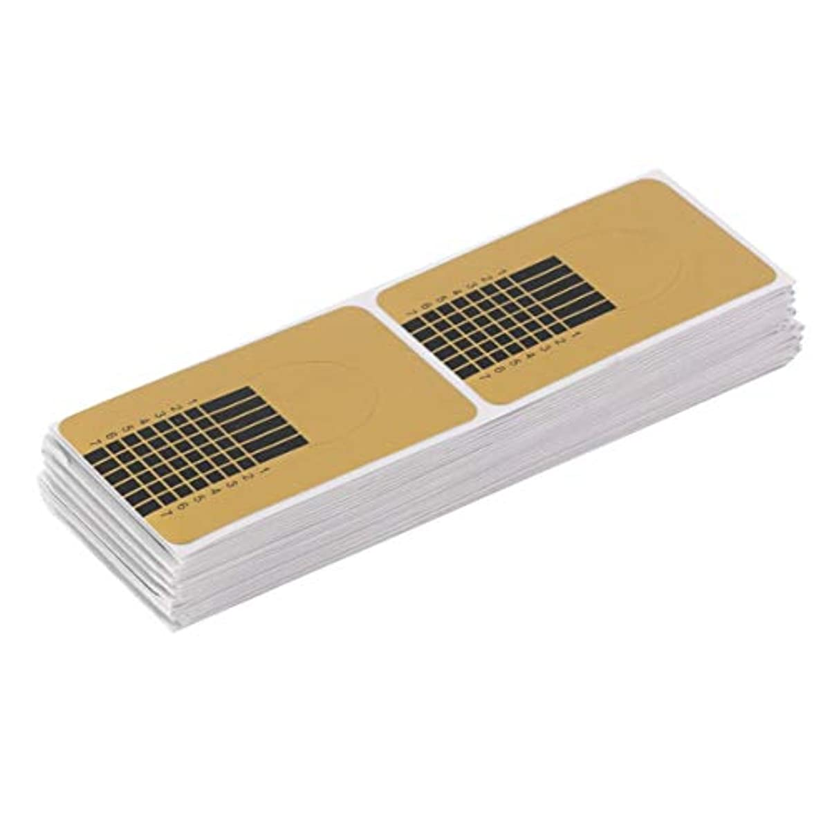 Birdlantern 100ピース/セットプロフェッショナルネイルツールのヒントネイルアートガイドフォームアクリルチップジェルエクステンションステッカーネイルポリッシュカールフォームゴールド