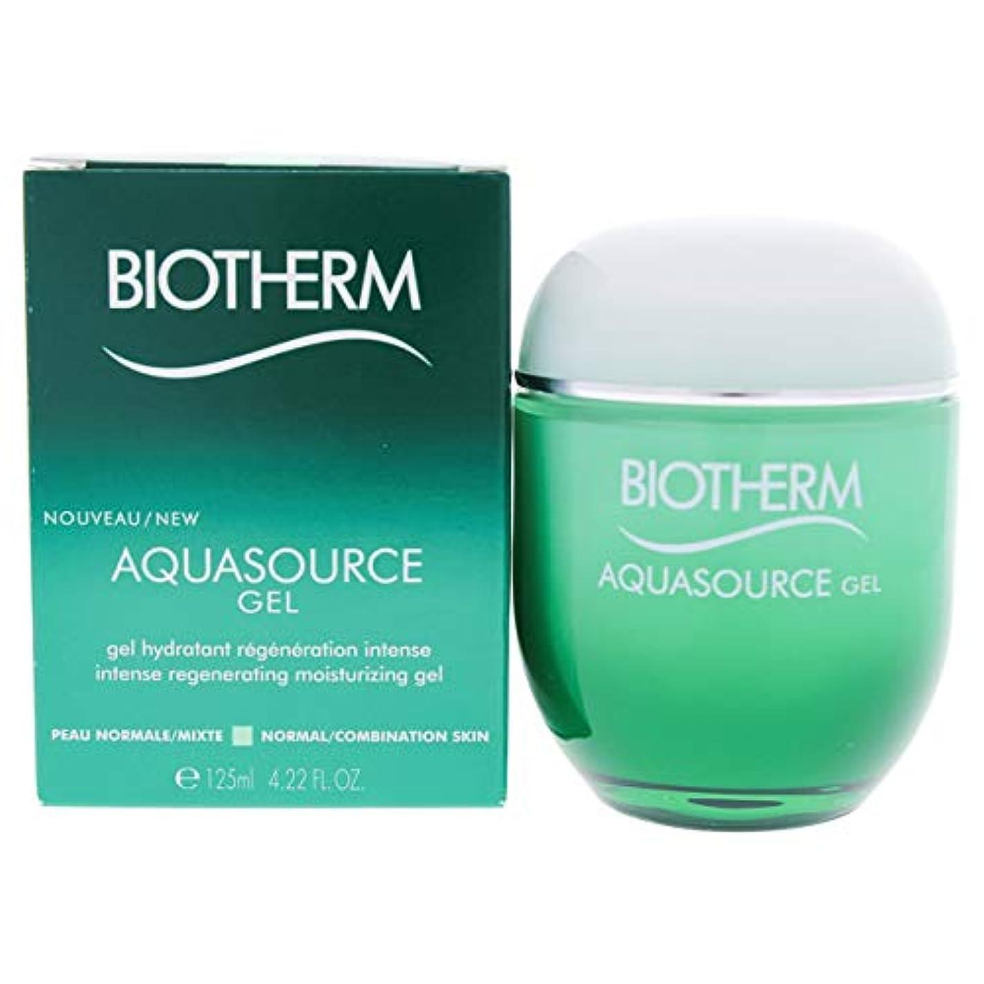 敵意思慮深いあなたはビオテルム Aquasource Gel Intense Regenerating Moisturizing Gel - For Normal/Combination Skin 125ml/4.22oz並行輸入品