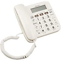 パイオニア Pioneer TF-V75 留守番電話機 迷惑電話防止 ホワイト TF-V75(W)  【国内正規品】