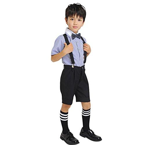 Cuteswer キッズ 子供スーツ 半袖 男の子 フォーマルスーツ 結婚式 発表会 入学式 卒業式...
