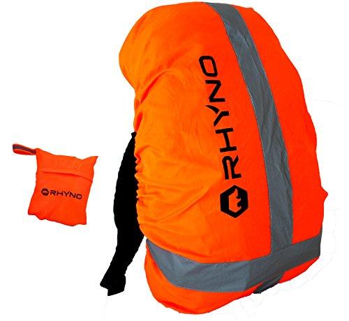 RHYNO(ライノ) リュックカバー レインカバー バックパックカバー ザックカバー 雨 PUコーティング 防水 / 反射 リフレクター ポーチ 付き / ? 35l(オレンジ)
