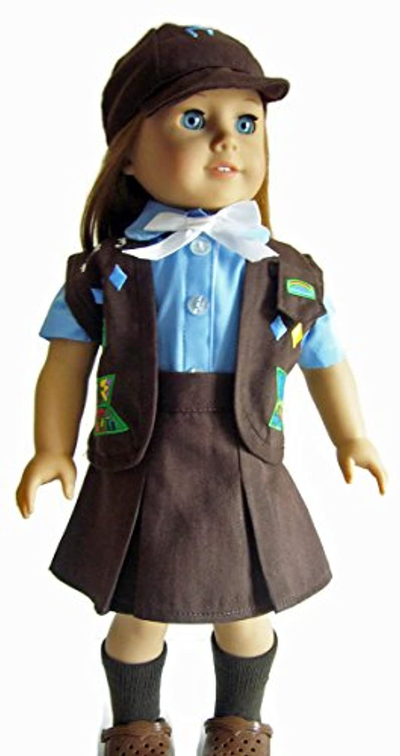 Brownie Scout Outfit 5 Piece Set Fits 18