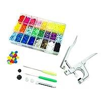 Dovewill 約360個入り 豪華なセット 虹の夢 スナップボタン スナップペンチツール ストレージボックス ミシンクラフト 24色 高品質 多機能 プラスチック製