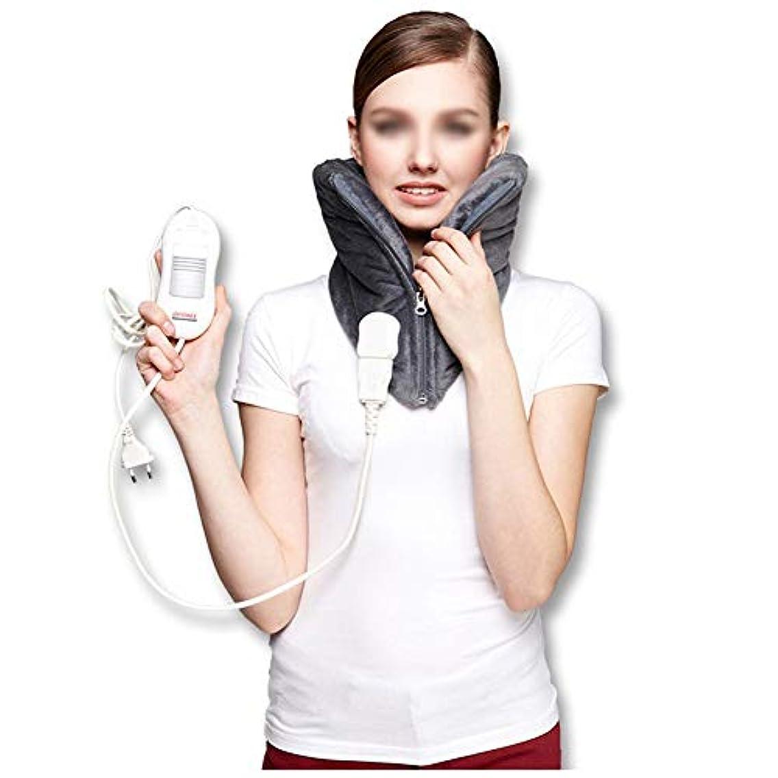 対称ゼロ中央頚部の電気ヒーターパッド - 暖かい頚椎のヒートパッド、自動電源オフ、洗える、3速度一定温度、高齢者の痛みを軽減するマッサージャー