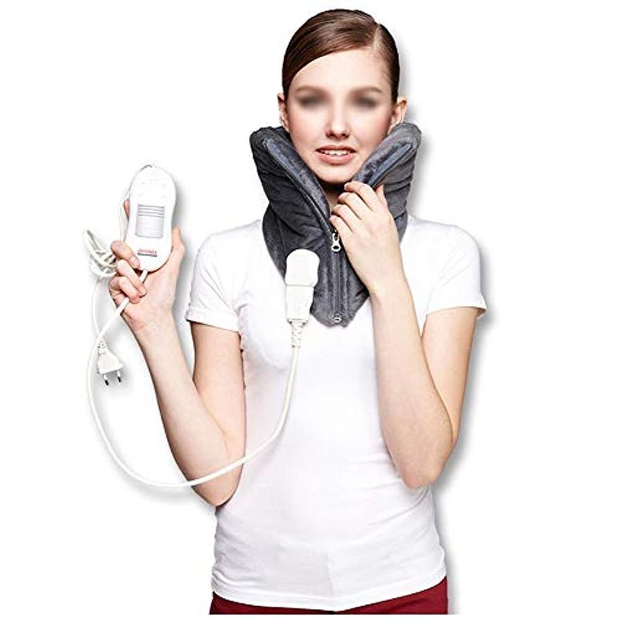 ギャザー恥ずかしいタービン頚部の電気ヒーターパッド - 暖かい頚椎のヒートパッド、自動電源オフ、洗える、3速度一定温度、高齢者の痛みを軽減するマッサージャー