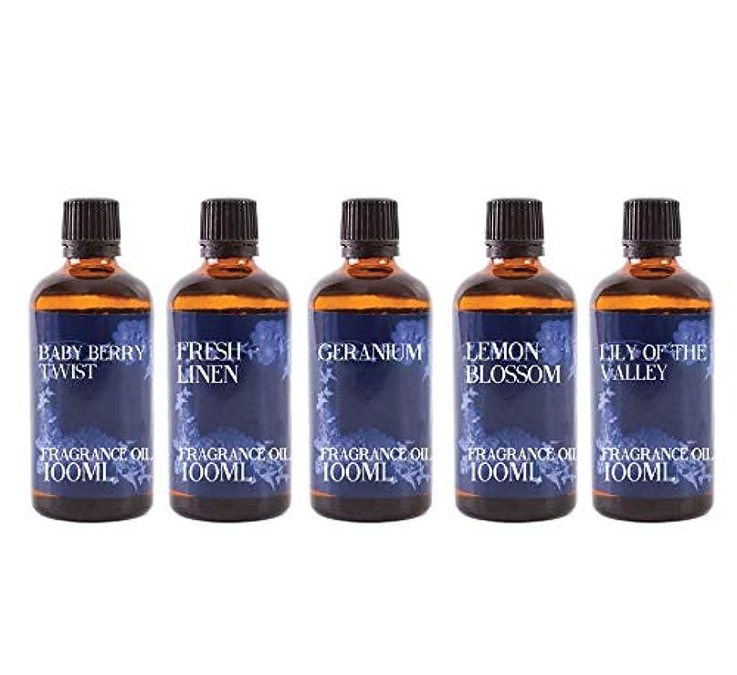 グラフィック指紋方法論Mystic Moments | Fragrant Oil Starter Pack - Spring Oils - 5 x 100ml