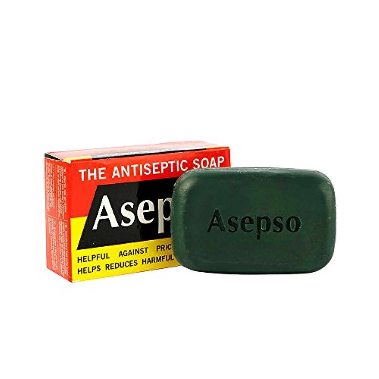 はねかける輸送時系列Asepso Antiseptic Soap Antibacterial Agent Soap 80g. x 4