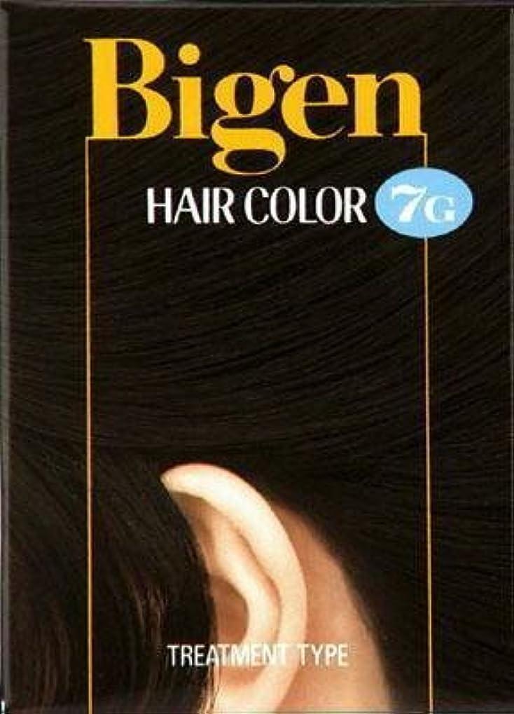 不名誉なポルノ間ビゲン ヘアカラー 7G 自然な黒褐色 × 5個セット