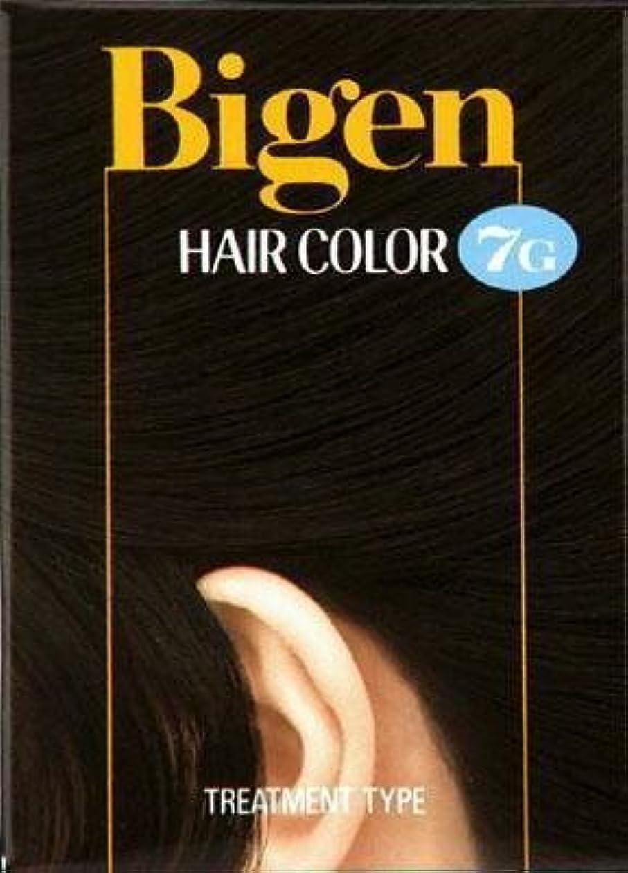 応用セメント合図ビゲン ヘアカラー 7G 自然な黒褐色 × 5個セット