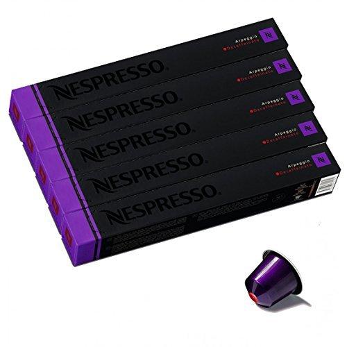 NESPRESSO ネスプレッソ カプセル コーヒー アルペジオ・デカフェ 1本10カプセル×5本セット [並行輸入品]