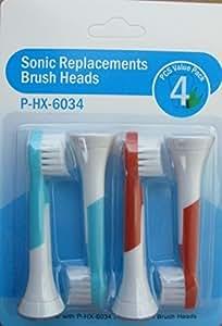 フィリップス  ソニッケア 対応 電動歯ブラシ キッズ HX6031/11互換品 HX6034  互換ブラシ4本入 ミニタイプ