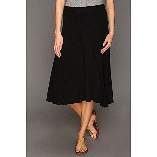 (スリードッツ) Three Dots レディース スカート カジュアルスカート Jersey Colette Double Layer Tea Length Skirt 並行輸入品