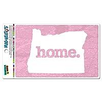 オレゴン州OR ホーム州 MAG-NEATO'S(TM) ビニールマグネット - 質感ライトピンク