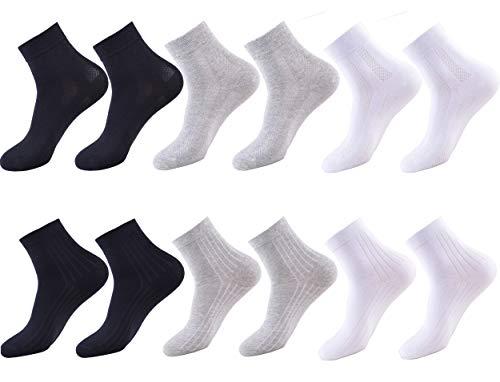 Tonbionvis 靴下 メンズ ソックス メンズ 12足組 銀イオン 抗菌防臭 吸汗速乾 くつした 通気性抜群 ビジネスソックス 24-28㎝