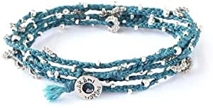 wakami ネックレス/ブレスレット 2WAY仕様 フェアトレード商品 LIFE IS WHAT-LONG NECKLACE (TEAL&SILVER) [並行輸入品]