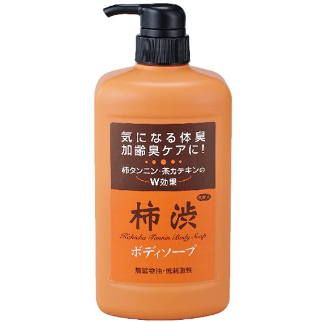 横たわるファンブル判定アズマ商事の 柿渋ボディソープ850ml