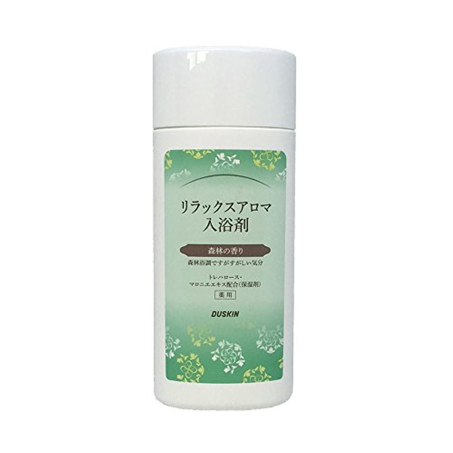 ご注意テキストジャンプダスキン リラックスアロマ入浴剤 森林の香り 濁り湯タイプ300g