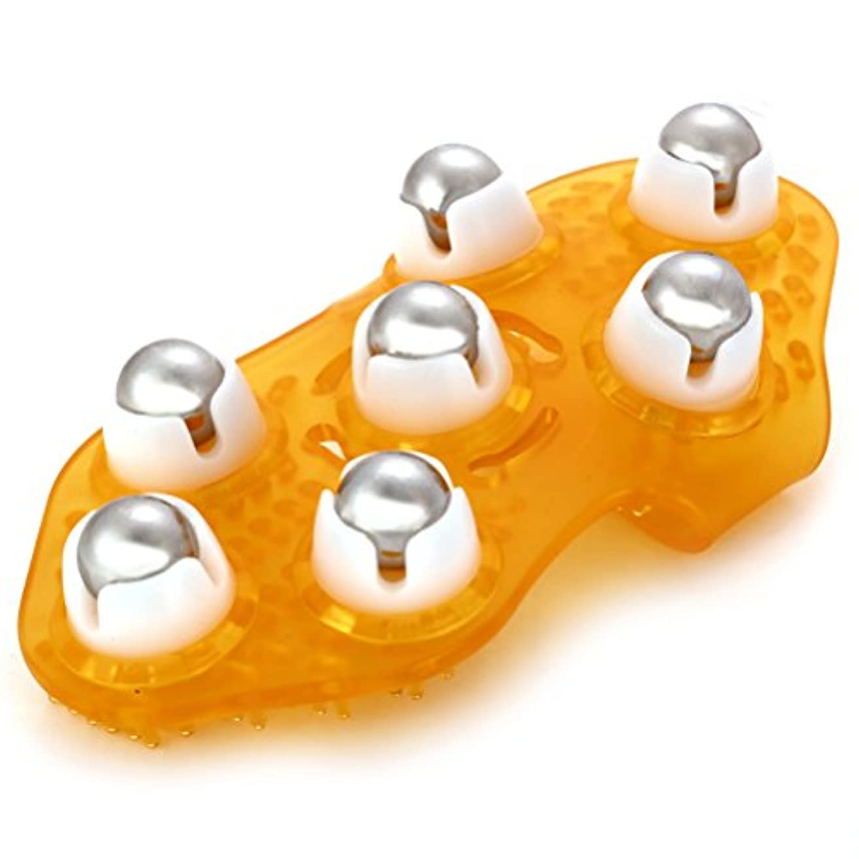 血統放つ靴ROSENICE マッサージグローブ ボディ用 多機能マッサージ器具 360度鋼ローリングボール(ランダムカラー)