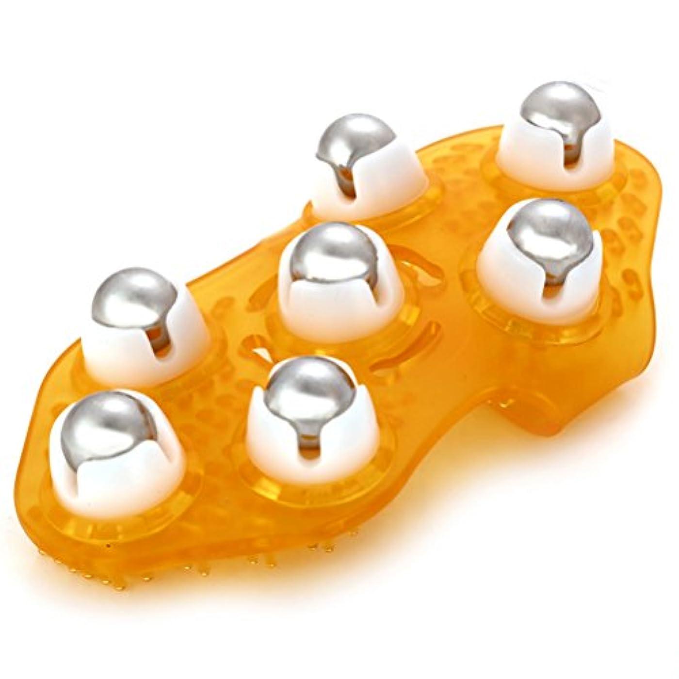 強大な人工的な再びROSENICE マッサージグローブ ボディ用 多機能マッサージ器具 360度鋼ローリングボール(ランダムカラー)