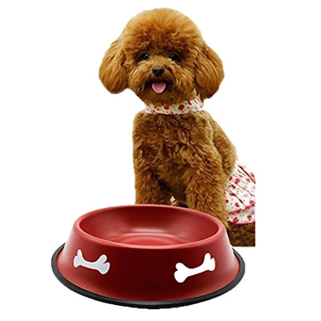 (ノタラス) Notalas 猫 犬 お皿 ステンレス製 富士型 餌入れ えさ入れ ごはん皿 お水入れ 食べやすい 転倒防止 清潔に保て 5サイズ選択可能 滑り止め ランダムな色