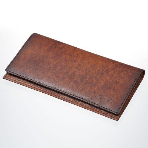 LuggageAOKI 青木鞄 Lugard G3 ラガード ジースリー 二つ折り 長財布 ロングウォレット カード入れ付き 日本製 本革 ブラウン 5206-50