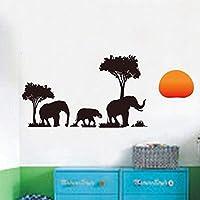 ウォールステッカーpvc自己接着防水壁紙壁画黒象のリビングルームの寝室の壁のステッカー50×70センチ