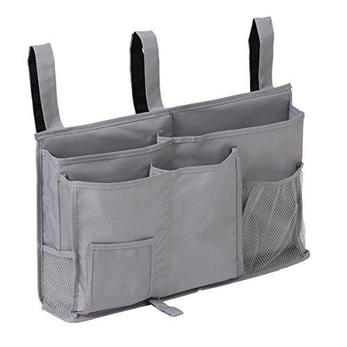 Surblue ベッドサイドストレージバッグ ベッドサイドストレージ 収納ポケット 小物収納 グレー