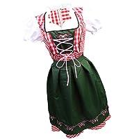 ポリエステル コスプレ 仮装 変装 衣装 メイド パーティー 派手なドレス レディース 全5サイズ - L