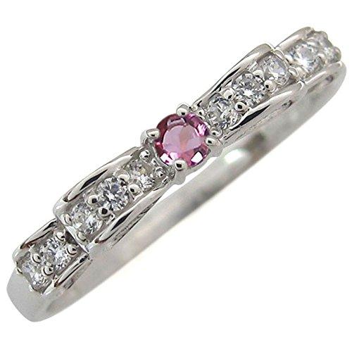 [해외]사전 모듈 핑크 반지 리본 K18 핑키 링 화랑 디 링/Prejul Pink Tourmaline Ring Ribbon K18 Pinkyling Faranzyling