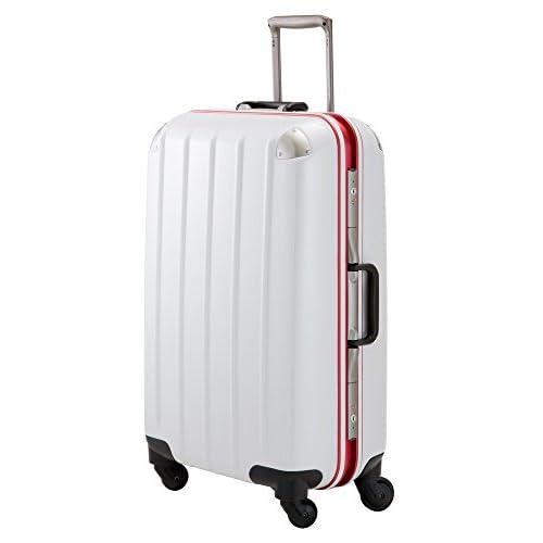 (プラスワン)PLUS ONE スーツケース swift Frame 5510-70 70cm ホワイトカーボン