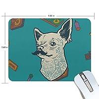 Jiemeil マウスパッド 高級感 おしゃれ 滑り止め PC かっこいい かわいい プレゼント ラップトップ MacBook pro/DELL/HP/SAMSUNG などに 犬