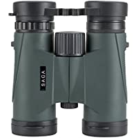 Saga Optics Nature Scout HD 8 x 32コンパクト双眼鏡for Bird Watching。の視聴スポーツゲームまたはコンサート。フォーカス閉じます。防水、霧証明