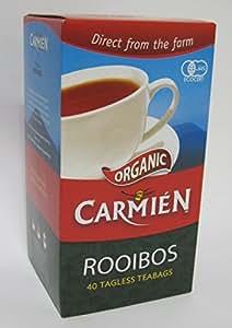 【お試し40包】CARMIEN(カルミエン)オーガニック ルイボスティー ティーバッグ40包入(100g)【Amazon配送センターより年中無休で発送】