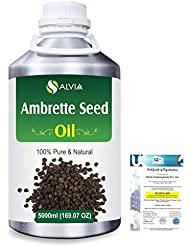 Ambrette Seed (Abelmoschus Moschatus) 100% Natural Pure Essential Oil 5000ml/169fl.oz.