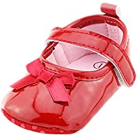 Weixinbuy Infant Baby Girl's Soft Soled Bowknot Princess Shoes Mary Jane Flats