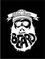 【FOX REPUBLIC】【男の中の男は髭を生やす】 黒光沢紙(フレーム無し)A3サイズ