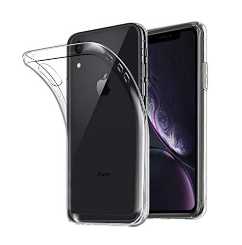 iPhone XR ケース SHINEZONE iPhone XR 6.1インチ ソフトカバー 透明 高品質TPU 耐衝撃 落下防止 防指紋 全面保護カバー(iPhone XR ケース クリア)