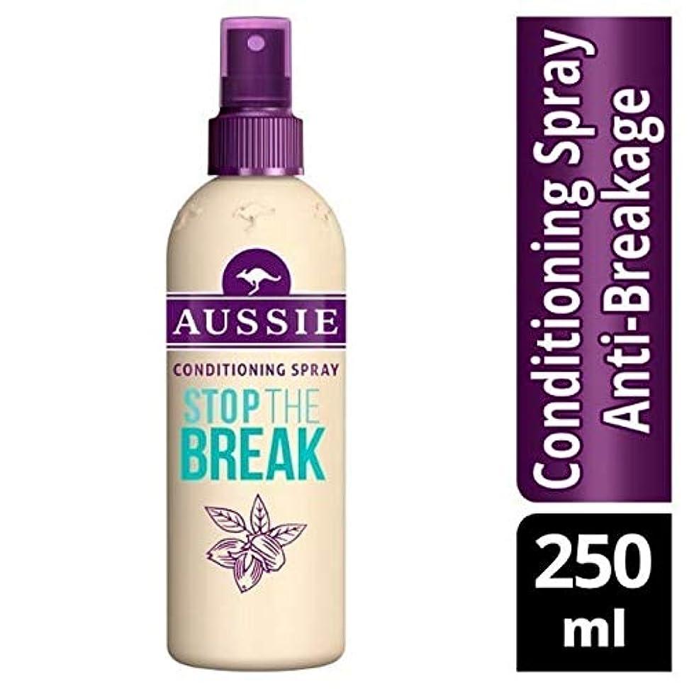 対処クラウン移民[Aussie ] オージーはブレーク保護&コンディショニングスプレー250ミリリットルを停止します - Aussie Stop The Break Protection & Conditioning Spray 250ml...